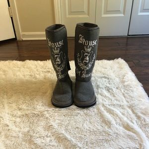 House of Juicy Juicy Couture Gray Boots Size 9